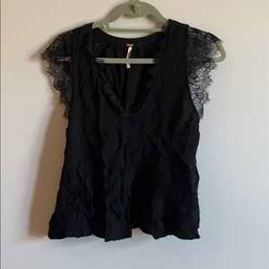 Free People Top w Lace Detail